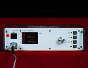 """Nellcor Pulse Oximeter Prototype as delivered to us in 1982.<br /> Note the absence of the """"N-100"""" designation, this was added at a later date as N-100A. The first commercial model was called N-100B."""